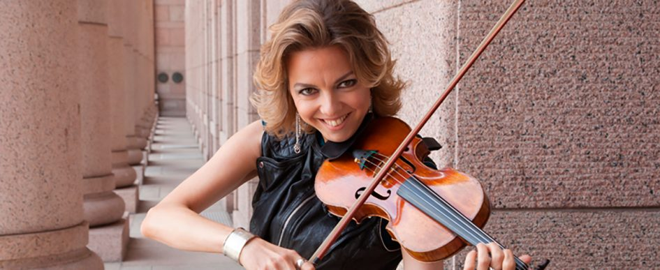 Playing violin, PR pic