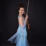 Finnish Violinist Mervi performing for China Finland Year of Winter Sports in Beijing